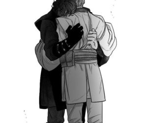 Anakin Skywalker, art, and hug image