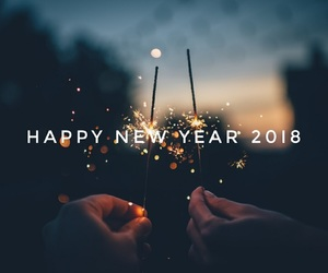 2018, new year, and january image