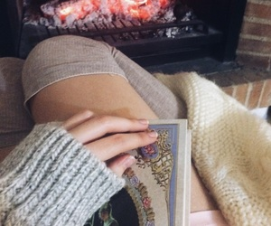 book, fire, and grey image