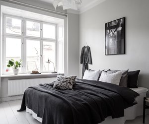 bedroom, black, and chill image