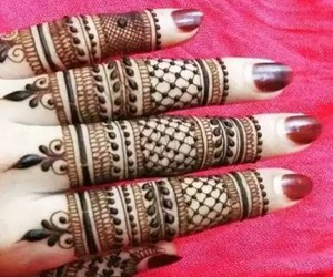 arabic, nails, and henna designs image
