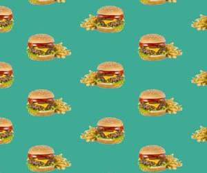 food, hamburger, and pattern image