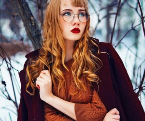 beauty, snow, and fashion image