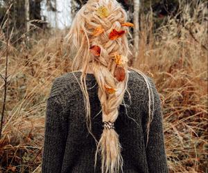 autumn, blonde, and braid image