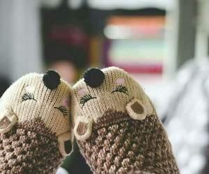 cute, socks, and winter image