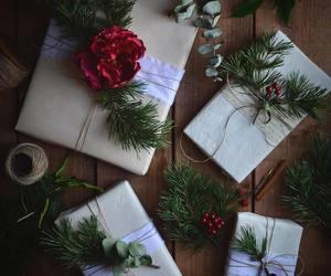 christmas, snow, and christmas lights image