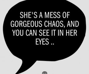 eyes, quote, and black and white image