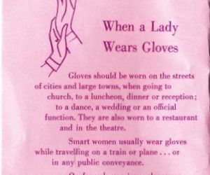 etiquette, gloves, and thoughts image