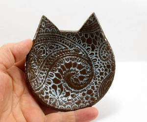 etsy, mother's day gift, and clay cat dish image