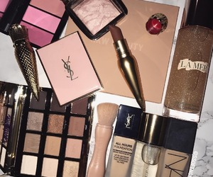 chanel, lipstick, and cosmetics image