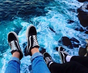 shoes, vans, and water image