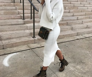 white, fashion, and ootd image
