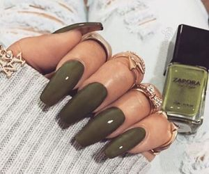 beauty, girl, and manicure image