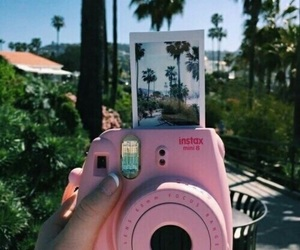 pink, polaroid, and summer image