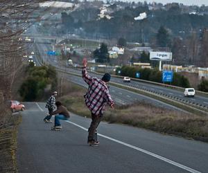 boy, skate, and city image