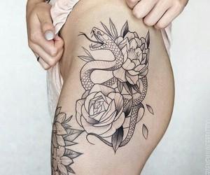 girl, tattoo, and boy image