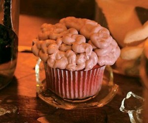 brain, cupcake, and food image