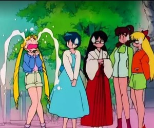 sailor moon, sailor mercury, and sailor mars image