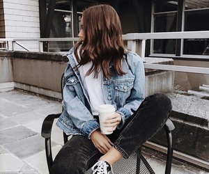 fashion, outfit, and denim image
