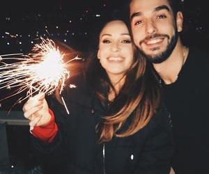 couple, girl, and smile image