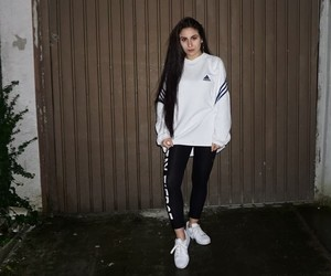 adidas, fashion, and straight hair image