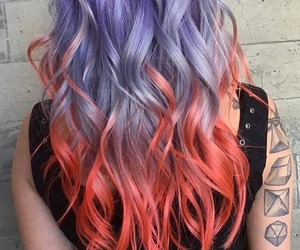 alternative, coral, and hair image