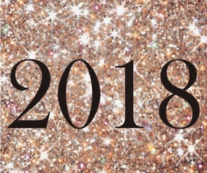 newyear, sparkles, and 2018 image