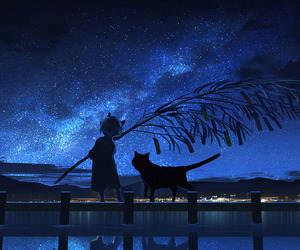 art, night sky, and painting image