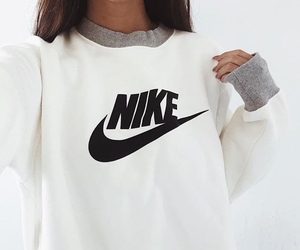 hair, nike, and pullover image