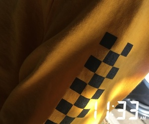 checkers, clothing, and yellow image