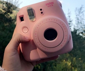 blue sky, instax, and pink image