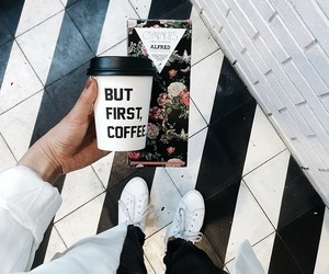 coffee, girly, and shoes image