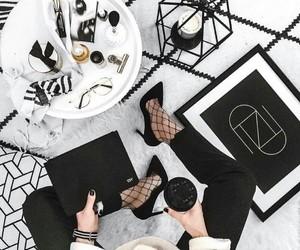 black, white, and flatlay image