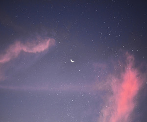 clouds, stars, and moon image