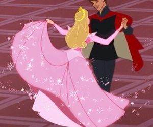 disney, prince phillip, and princess aurora image