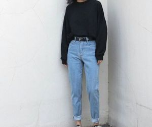 belt, ninties, and mom jeans image