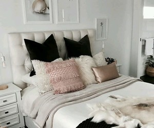 bedroom, bed, and classy image