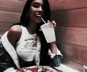 madison beer, food, and beauty image
