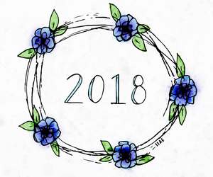 flowers, january, and new year image
