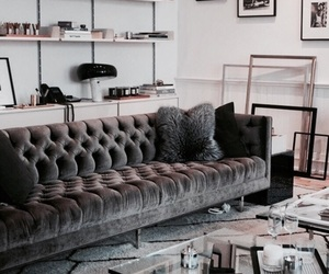 apartment, decor, and living room image