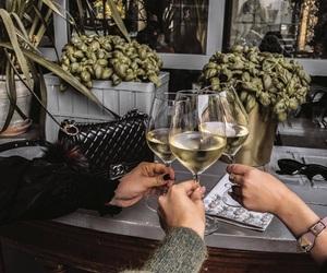 bag, chanel, and wine image
