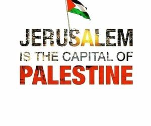 capital, Jerusalem, and palestine image