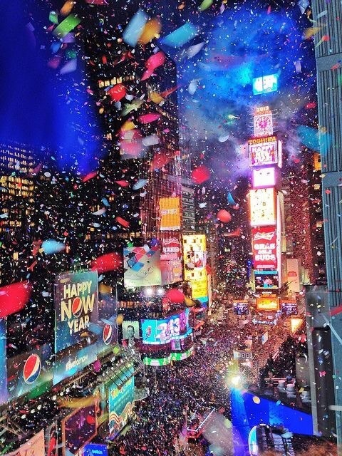 new york, new year, and party image
