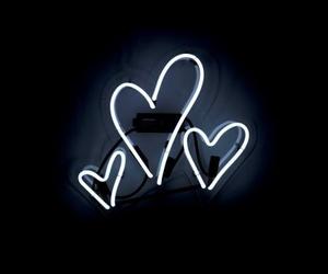 black, lové, and heart image