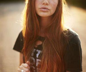 ginger, model, and girl image