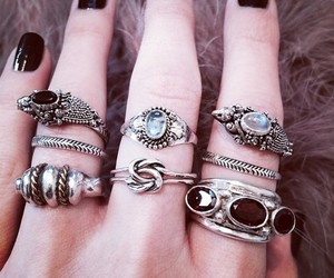 nails, rings, and anillos image