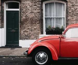 car, fusca, and red image