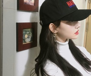 girl, hat, and korean image