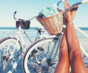 bike, girl, and travel image