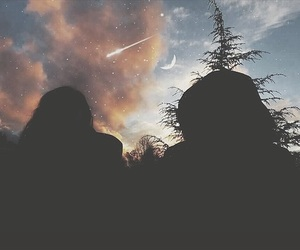 friendship, moon, and nature image
